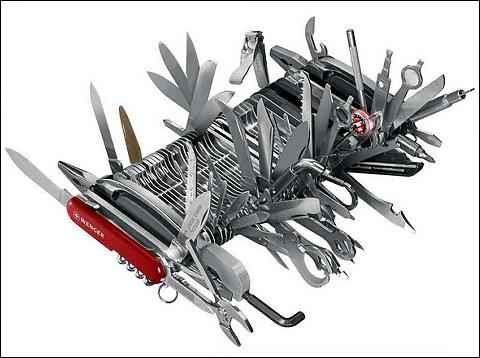 世界一の超多機能アーミーナイフが斜め上を行き過ぎていて装備できる人がいない件 Buzzap!(バザップ!)