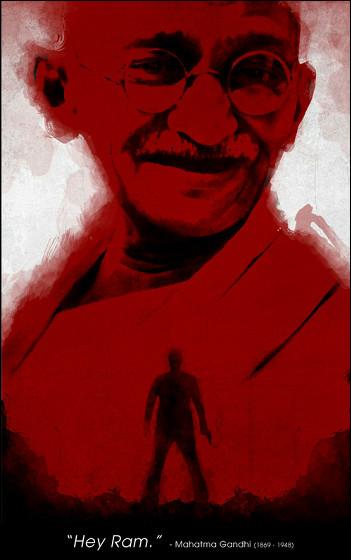 「非暴力、不服従」、あのマハトマ・ガンジーを題材にしたクールなイラスト集