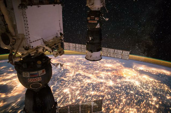 宇宙ステーションからの地球